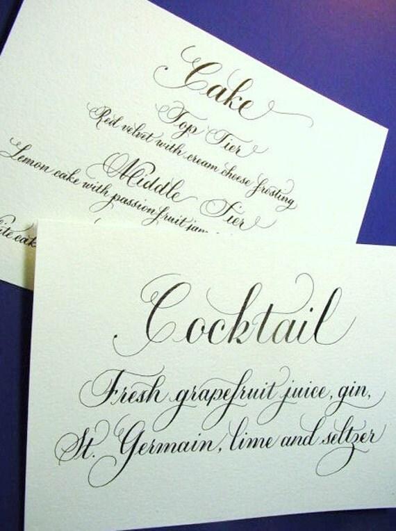 Wedding Signs, Menu, Wine List, Programs, Thank You