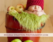RUSH READY SALE today Baby Apple hat Newborn crochet Red Green Fall Boy Girl 6-12 3-6 mos toddler Photo Studio Prop Photography Hats Beanie