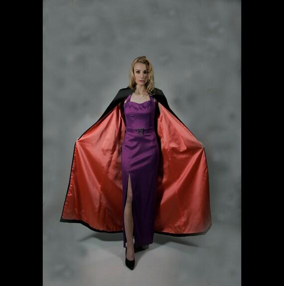 Opera Coat, Full length black velvet, 60s, S to M