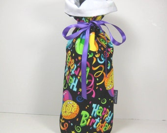 Happy Birthday Class Wrap Wine Gift Bag