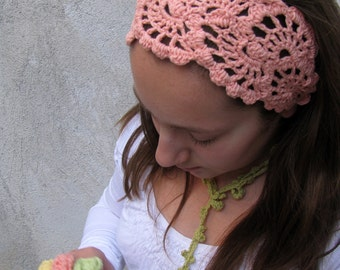 Crochet HeadBand - Hand Crochet Hairband - Women's Bandana - Crochet Hair Wrap -Hair Accessories