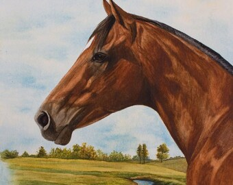 "New Thoroughbred print ""Timeless Days of Gold"""
