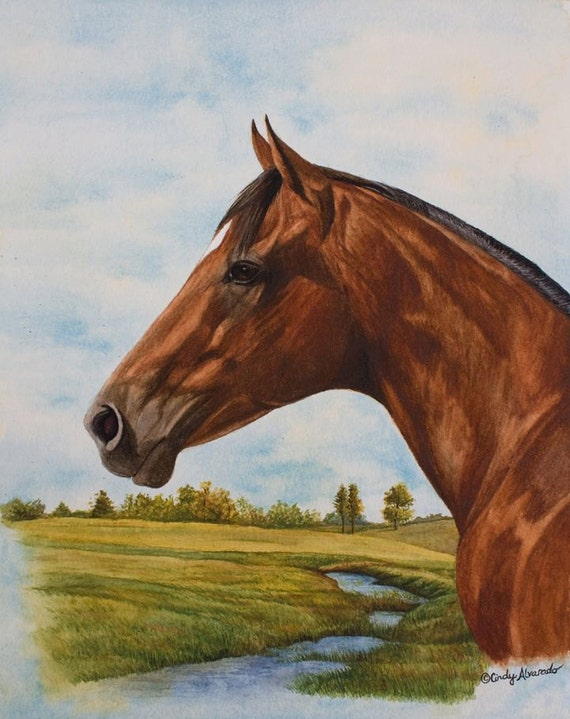 """New Thoroughbred print """"Timeless Days of Gold"""""""