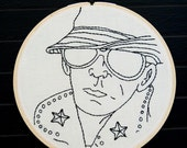 Lou Reed Embroidered Wall Art. Currently on sale 40% off!