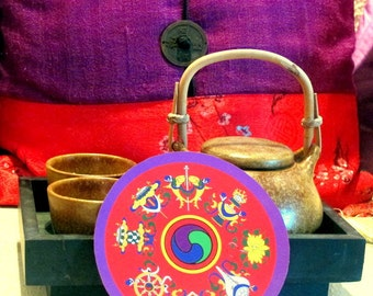 Eight Auspicious Symbols Mandala Stickers ~ Divine Fortune & Blessings ~