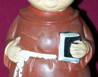 Friar or Monk Coin Bank 1960's or 70's Made in Japan