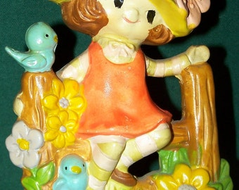 1973 Girl Figurine - World Wide Arts Inc