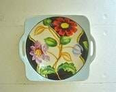 Art Deco Bowl with Bright Flowers Antique Noritake Hand Painted 1920s - 1930s