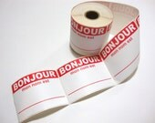 Bonjour Mon Nom Est Labels French Hello My Name Is - 5 labels