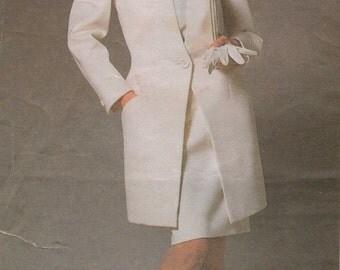 1980s Christian Dior Womens Below Hip Jacket, Top & Skirt Vogue Paris Original Sewing Pattern 1867 Size 12 Bust 34