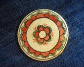 Flower magnet fridge, Romanian  traditional motives, kitchen magnets, medallion mandala flower magnet