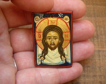 Miniature icon of the Holy Veil- Religious Christian Holy Necklace-The Bread of Life- Christian veil- Veil Communion- Catholic- Protestant