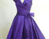 Custom Made  MARIA SEVERYNA  Wrap Full Skirt Dress 1950s style, mother of the bride dress - Many Colors Available