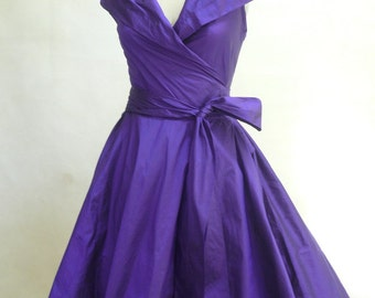 Custom Made  MARIA SEVERYNA Wrap Full Skirt Grace Dress - Mother of the bride - cocktail dress - Many Colors Available