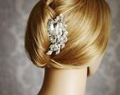 CELESTYN, Victorian Inspired Bridal Hair Comb, Rhinestone and Pearl Wedding Hair Comb, Vintage Style Wedding Bridal Hair Accessories