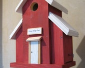 BirdHouse for Bluebirds, Chickadees and Nuthatches Please DEW DROP INN