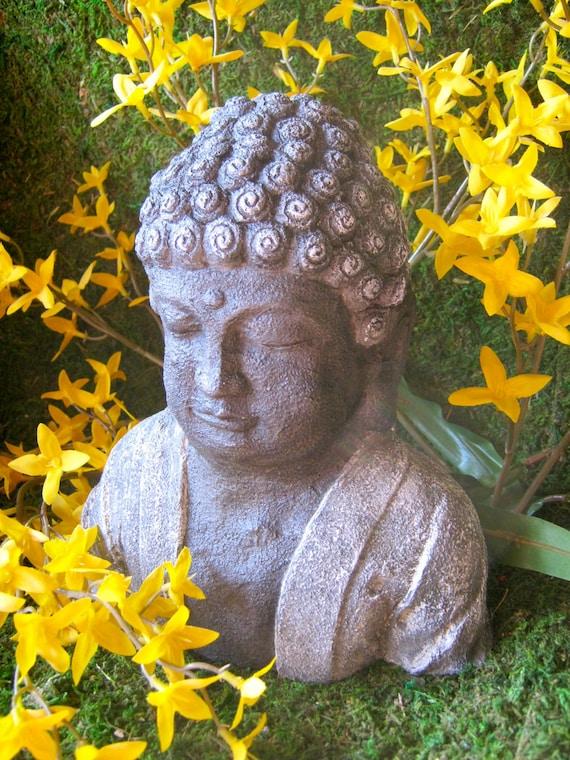 Buddha Head, Concrete Statue,