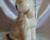 Cat Figurine Made in ITALY White Cat