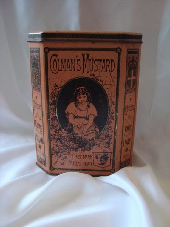 Colmans Mustard Tin Collectible Tin Can