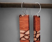 Stunning Mahogany Wood Earrings with Artisan Gift Box