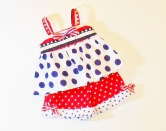 Girls PATRIOTIC Shorts OUTFIT Size 6mo to 4t Girls Red White Blue  Summer Clothes 6mo 12mo 18mo 24mo 2t 3t 4t