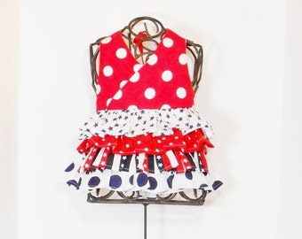 Girls 4TH of JULY Top  12 Months to 6 Patriotic  Summer Clothes 12mo 18mo 24mo 2t 3t 4t 5 6  Red White Blue USA