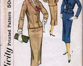 1950's Misses' and Women's Two-Piece Suit Size 18 Bust 38