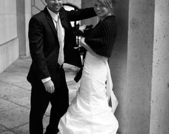Black Shawl/Wedding Shawl/Wedding Cape/Bridal Shawl/Bridal Bolero/Bridal Cape/Hand Knit Shawl/Black Shrug/Black Wedding Shawl/Black Bolero