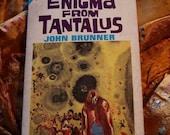 John Brunner Enigman From Tantalus & The Repairmen Of Cyclops Ace Double Paperback M-115 Caughan Schoenheer Emsh Design Art Sci Fi
