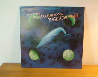 George Crumb Punchatz Design Art Four Moons The Whale Record LP Album Columbia Records 1974 Federico Garcia Lorca Vintage