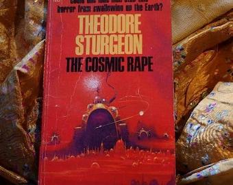 Theodore Sturgeon The Cosmic Rape, Lehr Design Cover Art Sci Fi Paperback 1968, Dell Books 1512, Sci Fi
