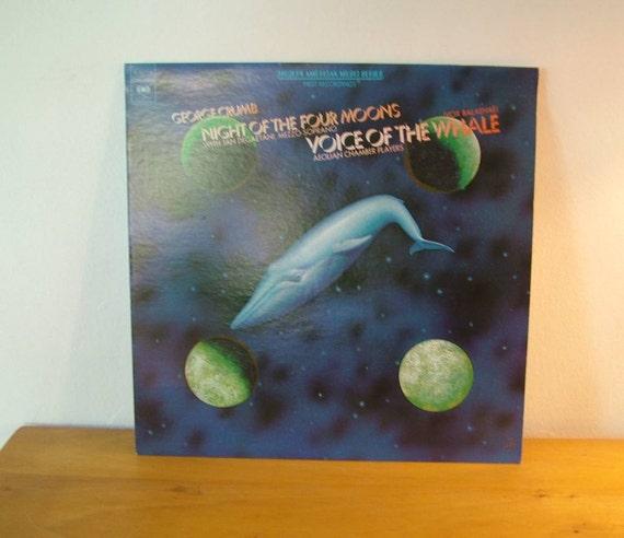 George Crumb Punchatz Design Art Four Moons The Whale Record LP Album Columbia Records 1974 Federico Garcia Lorca Vintage