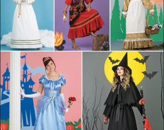 Simplicity Pattern 2847 Misses Long Dress Costume Sizes 6-20 NEW