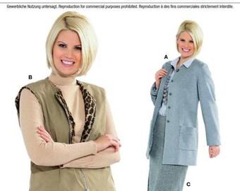 Burda Pattern 7564 Misses'/Women's Suit Jacket, Vest & Skirt Sizes 18-32 NEW