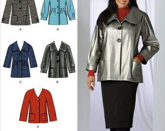 Simplicity Pattern 2543 Khaliah Ali Misses'/Women's Jackets and Coats Sizes 10-18 NEW