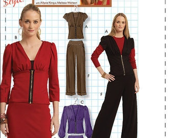 McCall's Pattern M5940 Misses' Tops, Skirt in Two Lengths and Pants Sizes 12-18 NEW