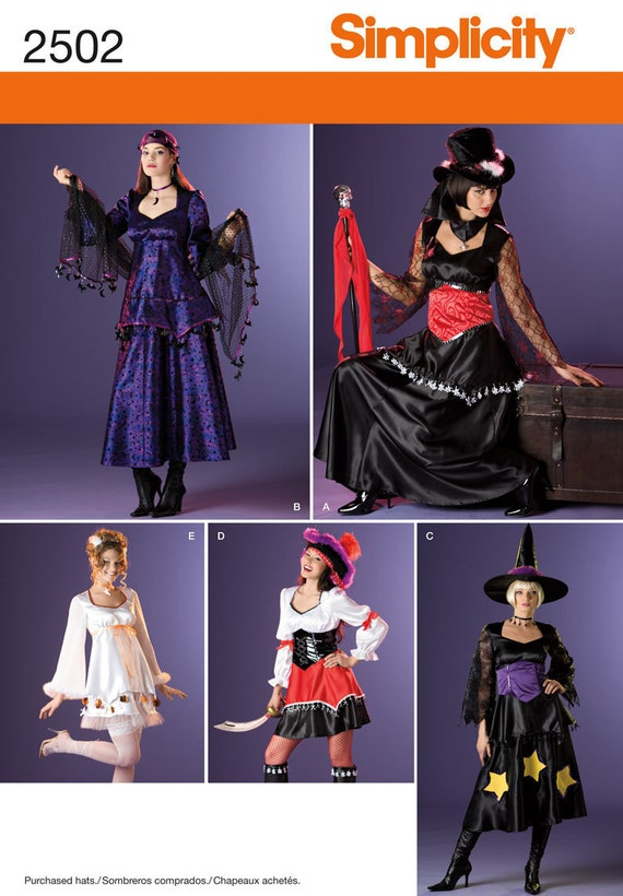 Simplicity Pattern 2502 Misses' Dress Costumes Sizes 8-16 NEW