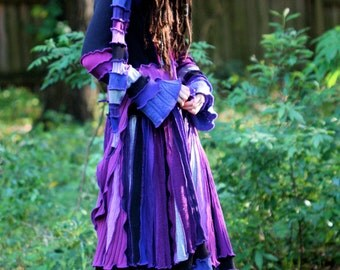 custom made to order  SuperDuperUbberAwesome  recycled sweater coat pixie elf nymph dream fairy coat