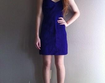 genuine purple leather minidress- SALE