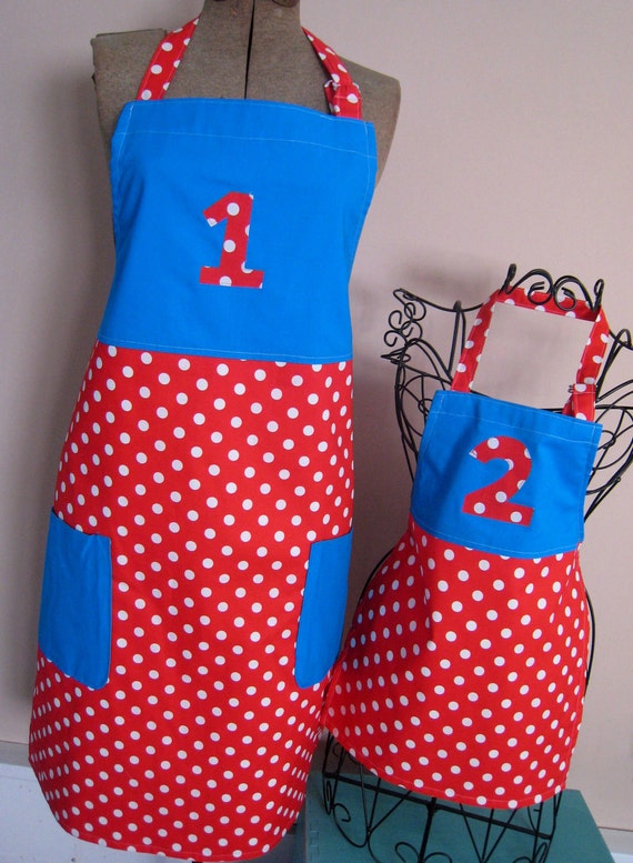 Thing 1 & Thing 2 Themed Matching Aprons