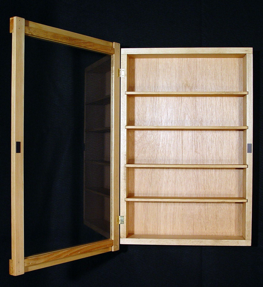Wall Curio Cabinet display case shadow box