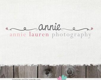 logo design - photography logo - logo - premade logo - logos and watermarks - photographer logo - logo designs - heart logo photography
