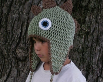 Dinosaur Earflap Hat