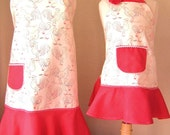 Set of 3 Matching Aprons--Roosters/Chickens Baking Apron CUSTOM ORDER ZADE