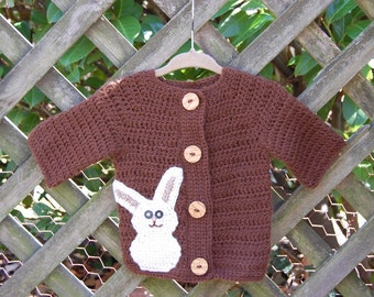 Undyed Alpaca Bunny Sweater for Baby size 6 months