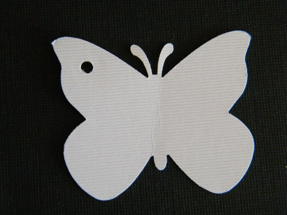 50 tags - Butterfly Wedding Gift tags -2 Inch Butterfly- You Pick the Colors-Price Tags-Favor tags - Blank