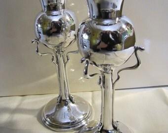 Art Nouveau Sterling Silver Vases, Edwardian Era