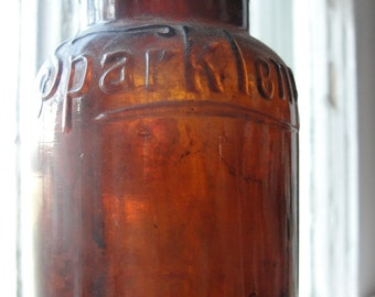 Antique bottle - hand blown - Sparklene