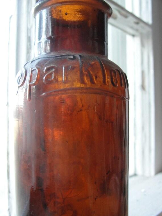 Antique bottle - hand blown - Sparklene