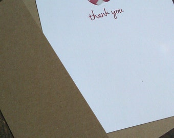 Thank You Notes - Apple Gingham Fabric